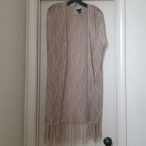 Tan knit cover up